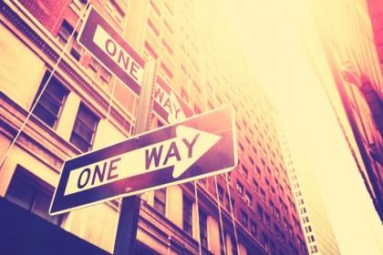 Einbahnstraße Digitalisierung
