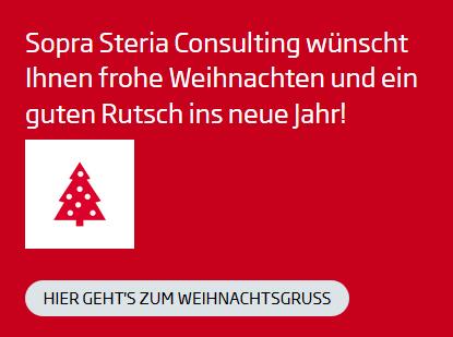 Frohe Weihnachten wünscht Sopra Steria Consulting