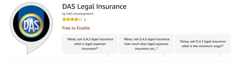 Versicherer DAS nutzt Alexa