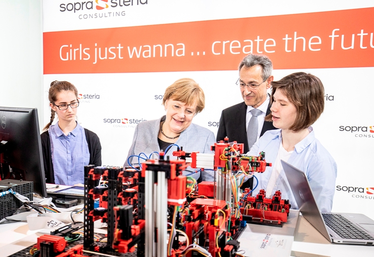Girls'Day 2019 Bundeskanzlerin bei Sopra Steria Consulting