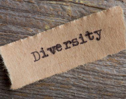Stofffetzen mit dem Aufdruck Diversity: Digitale Barrierefreiheit ist für Business Intelligence wichtig.